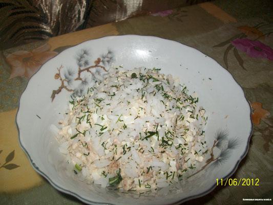 Салат рыбный