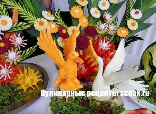 Карвинг: искусство резьбы по овощам и фруктам