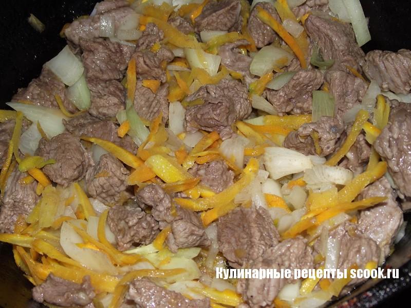 Картофельный соус с мясом
