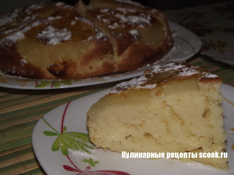 Пирог с ананасами