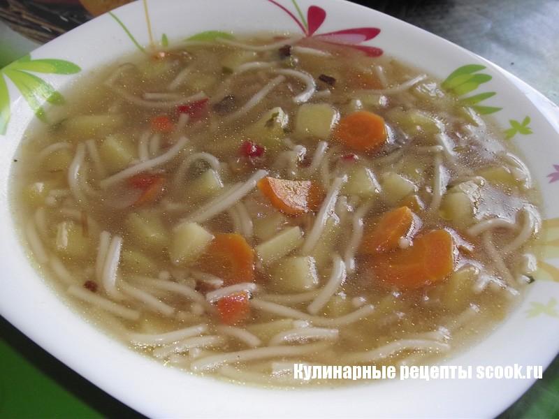 Легкий суп с вермишелью