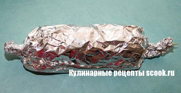 Диетический шашлык из кабачков и куриного филе