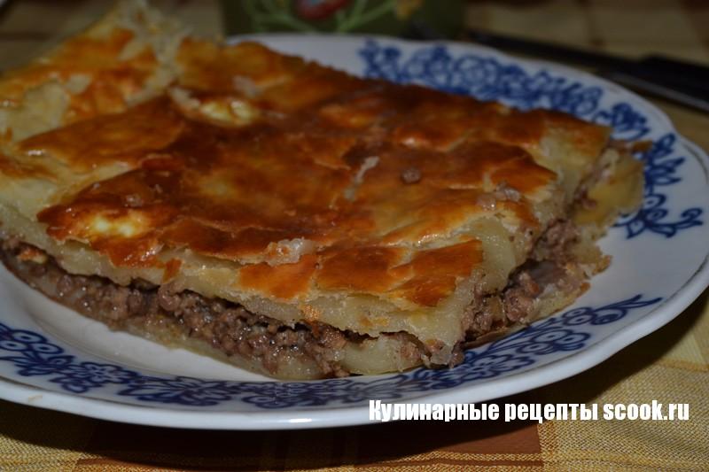 Слоеный пирог с мясом