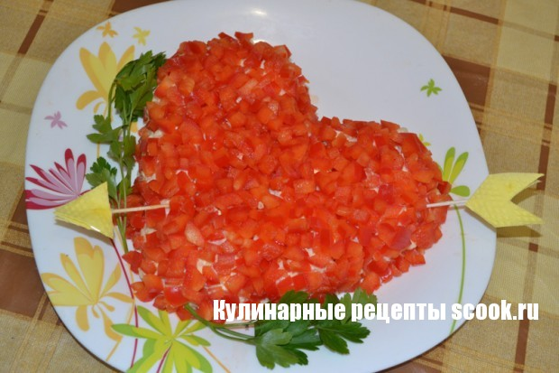 Салат в виде сердца фото