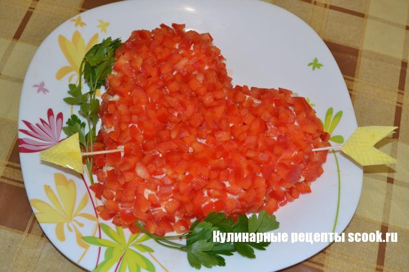 "Салат ""Сердце"" на день Святого Валентина"