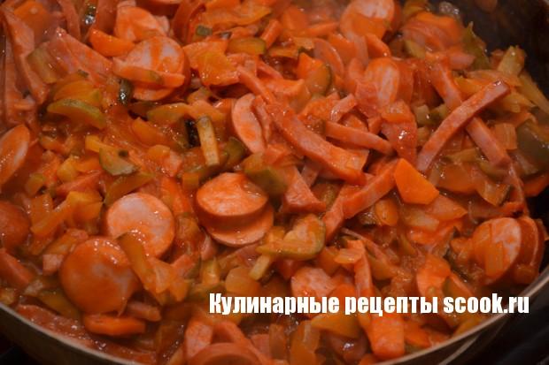 Рецепт солянки с колбасой