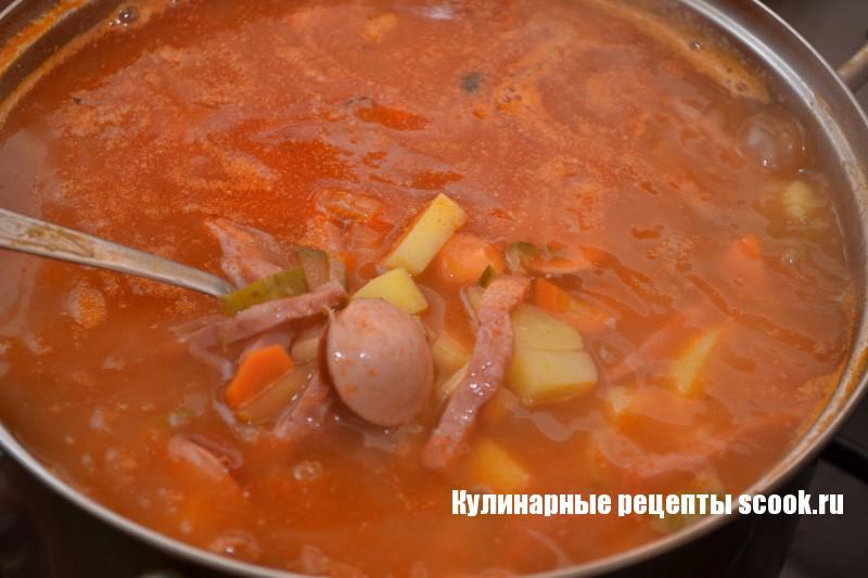 Солянка с и картошкой рецепт с фото