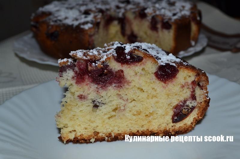 Быстрый пирог с вишней