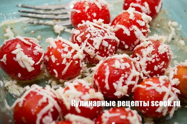 Паста с помидорами черри