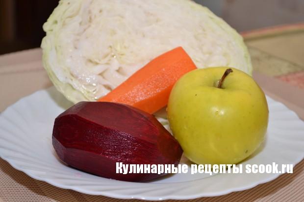 """Диетический салат """"Щетка"""""""