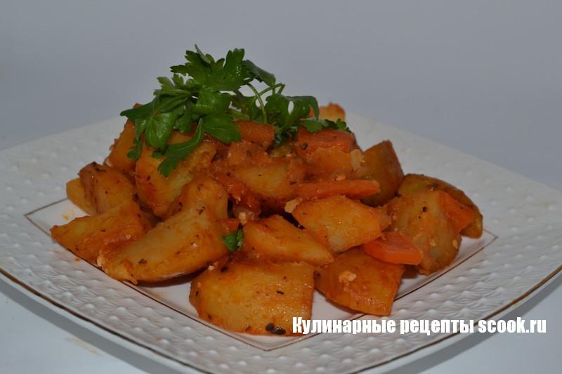 Тушеная картошка в духовке