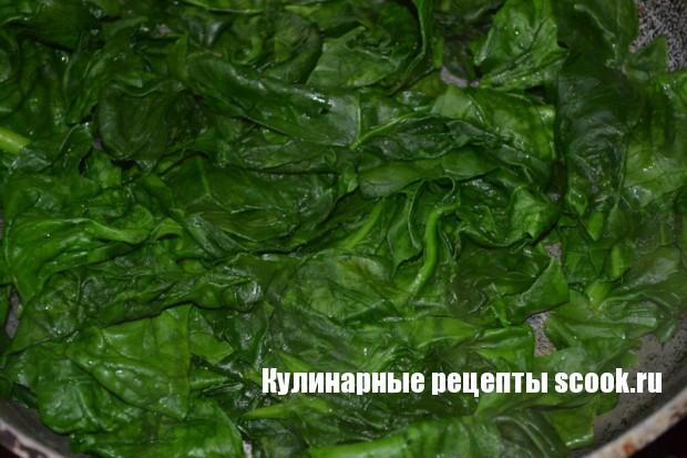 Творожная полента со шпинатом