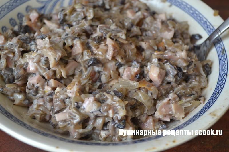 начинка для блинов курица с грибами