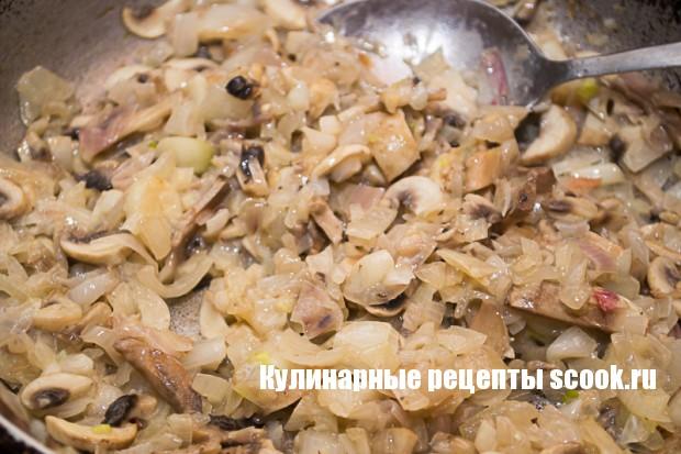 Кабачки, фаршированные грибами