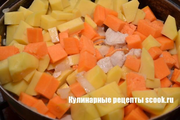 Курочка с тыквой и картофелем
