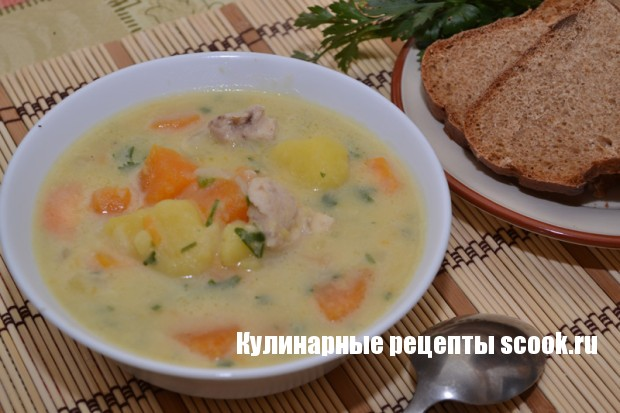 Курочка с тыквой и картофелем