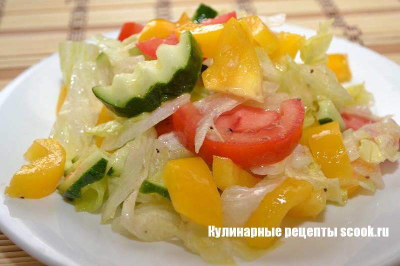 """Салат с овощами """"Светофор"""""""