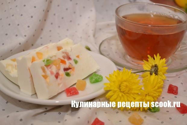 Творожное суфле с цукатами