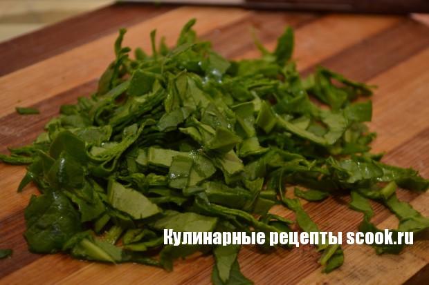 Омлет с творогом и шпинатом