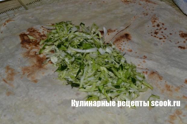 Шаурма вегетарианская с брынзой