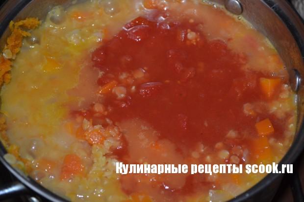 Суп из тыквы с чечевицей