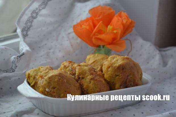 Тыквенное печенье с белым шоколадом