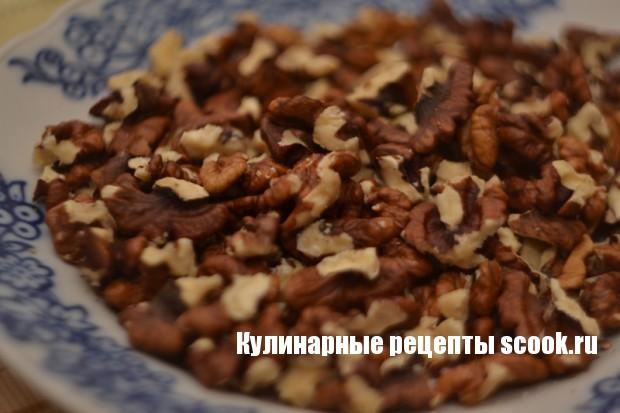 Фарфалле с творогом и грецкими орехами
