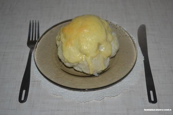 Цветная капуста, запечёная с сыром