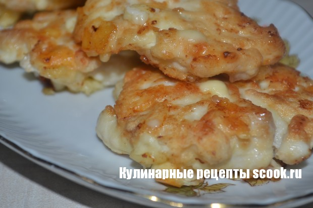 Нежные котлетки из куриного филе и сыра