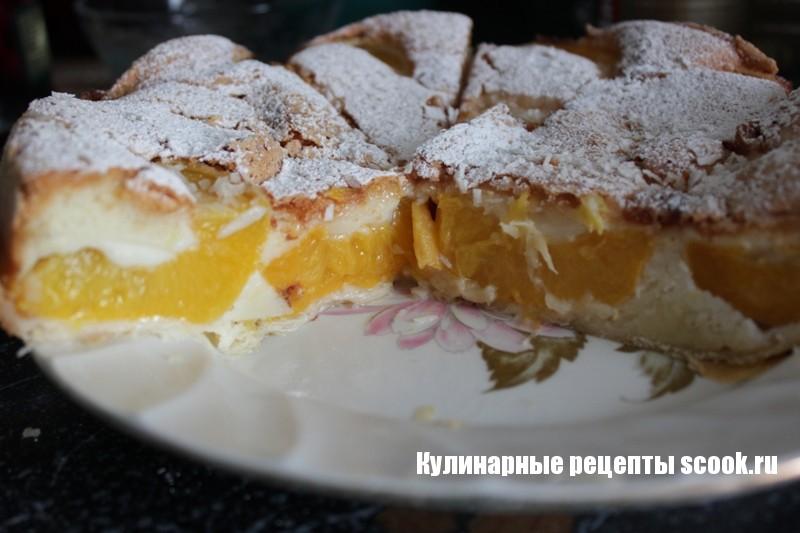 """Пирог """"Персиковые ломтики"""""""
