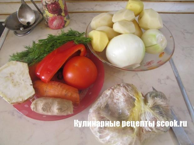 Судак с овощами в мультиварке