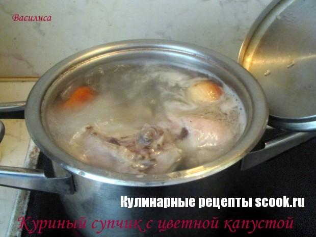 Куриный супчик с цветной капустой