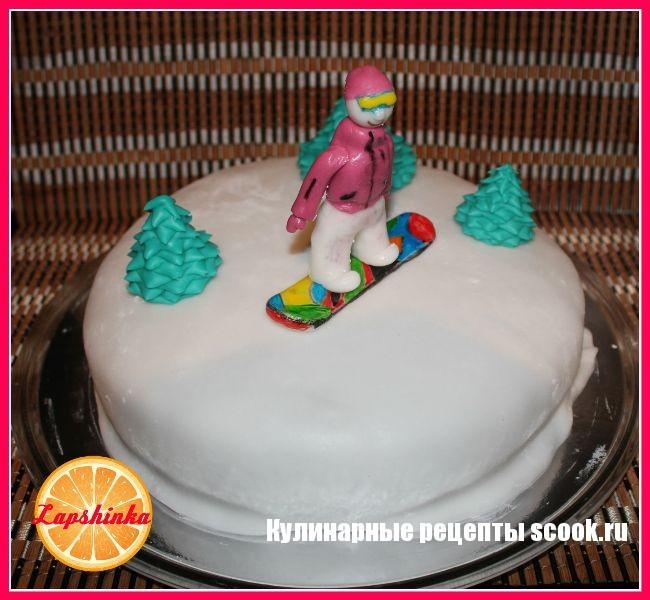 Торт сноубордисту