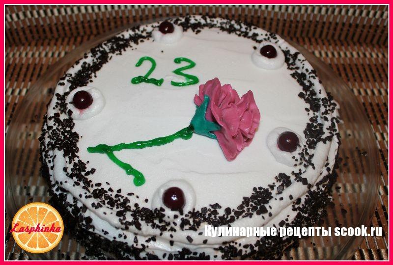 """Торт с """"пьяной"""" вишней"""