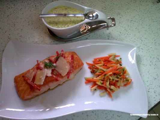 лосось, маринованный в кленовом соусе