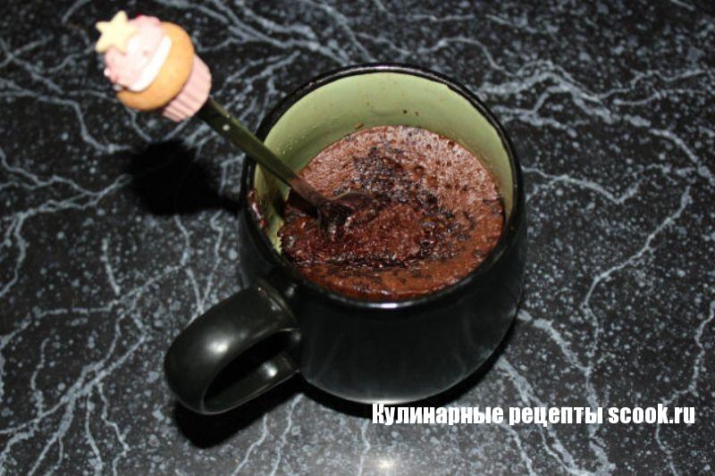 """Шоколадный кекс в кружке""""Пятиминутка"""""""