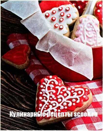 Печенье сердечки на день валенита