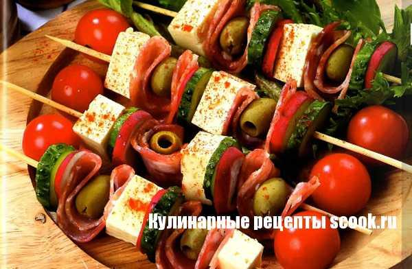 Закуска с салями и редисом