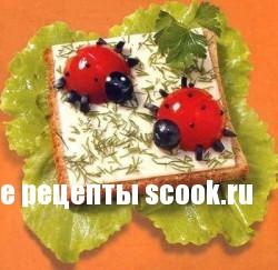 Рецепты детских бутербродов