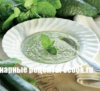 Холодный суп из кабачков и авокадо