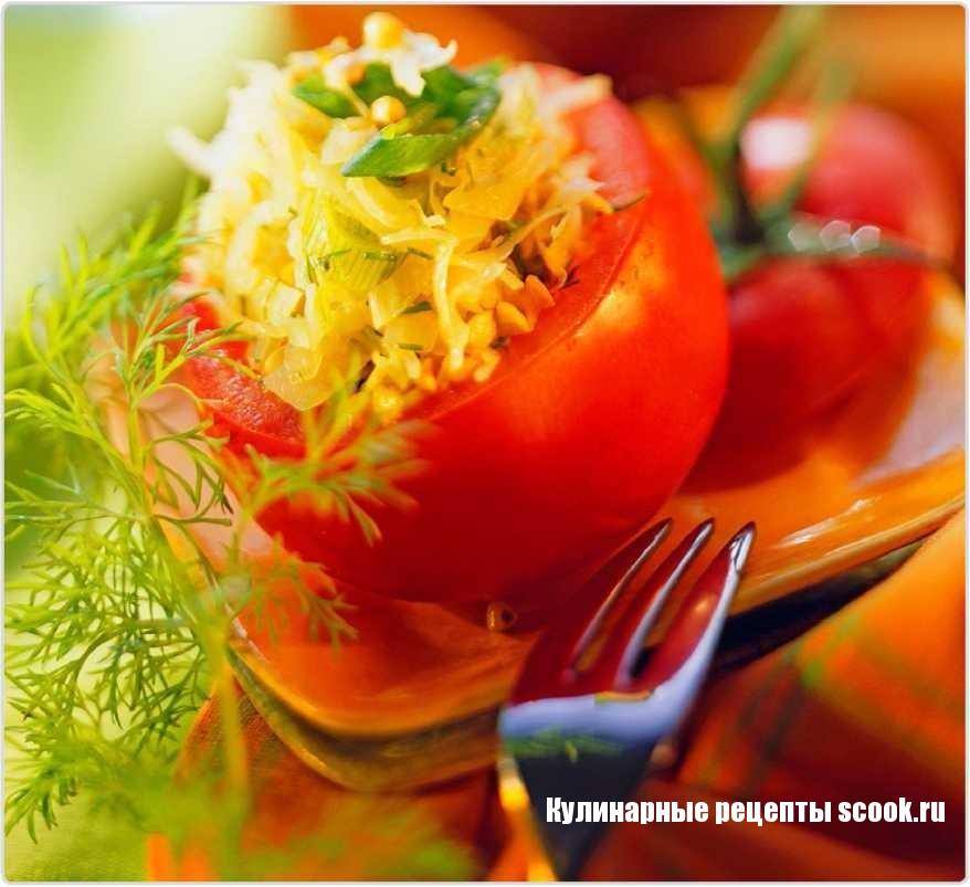 Помидоры, фаршированные гречкой и квашенной капустой