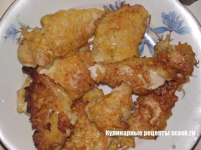 Куриные отбивные в овощном кляре