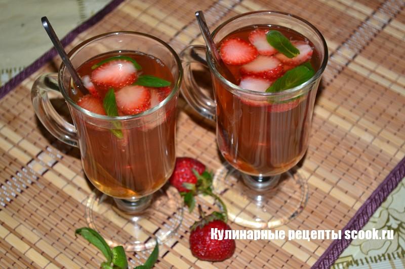 Клубнично-мятный чай