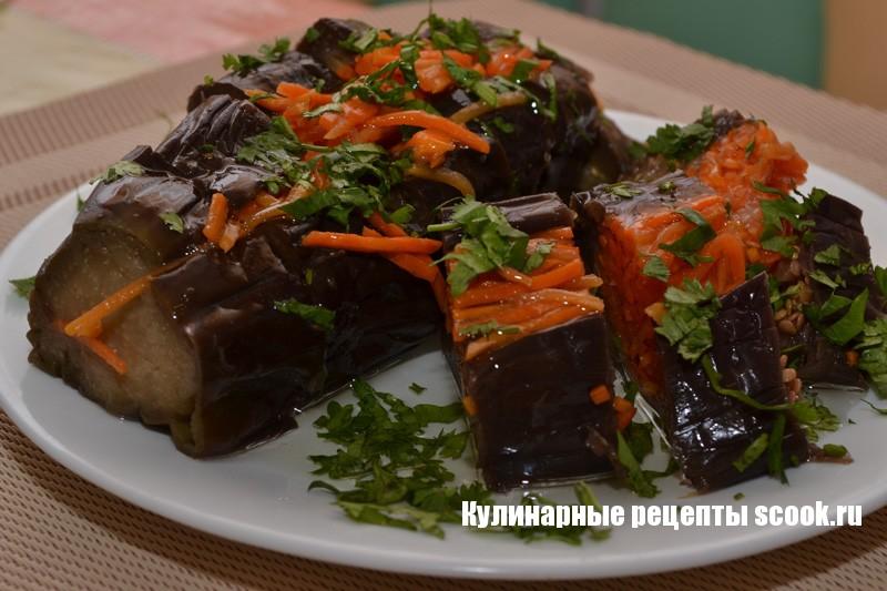Квашенные баклажаны с морковкой