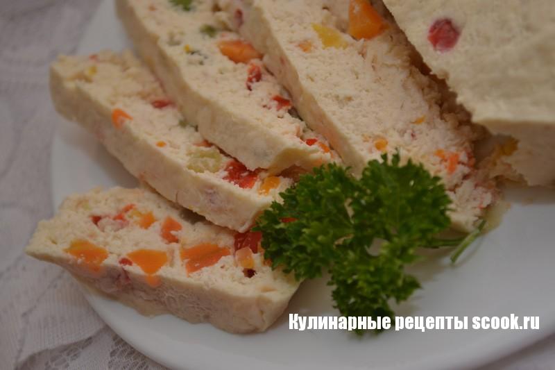 Куриное суфле с овощами в пароварке